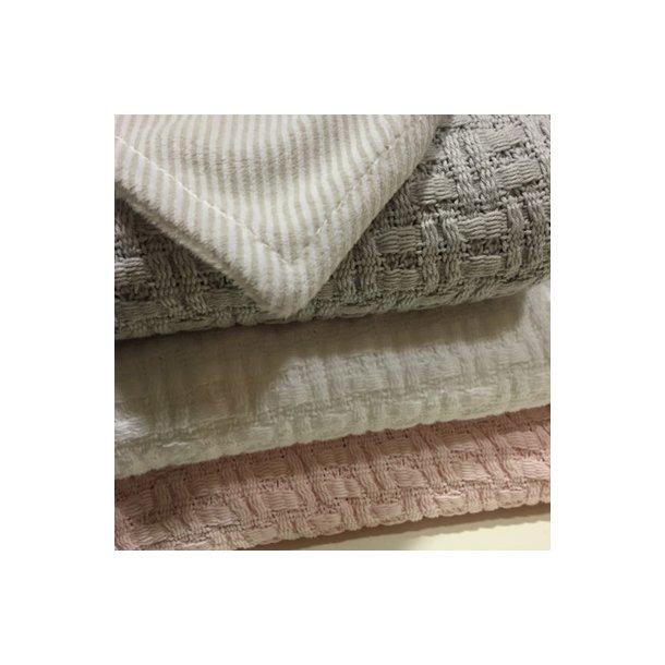 RättStart vaffel-strikket babytæppe, 100% Øko-bomuld