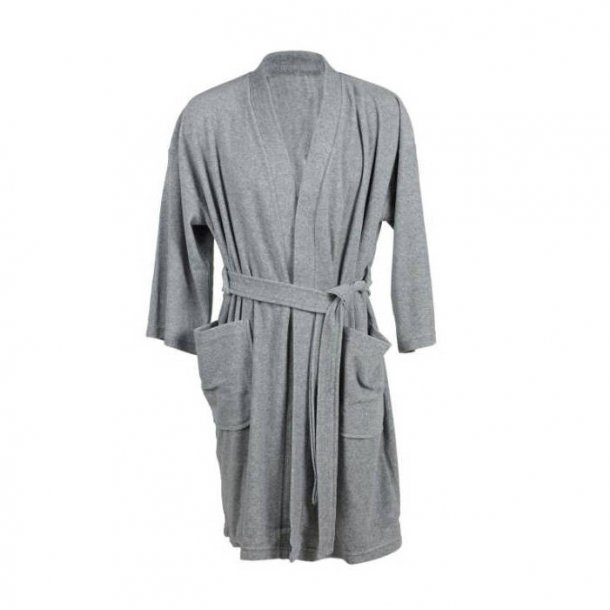 Södahl Soft Badekåbe i frotté, grå melange (L/XL)