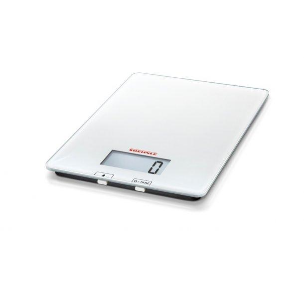 Soehnle Purista Køkkenvægt, elektronisk - op til 5 kg - hvid