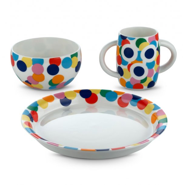 Alessi krus, skål og tallerken, porcelæn - Alessini - Proust