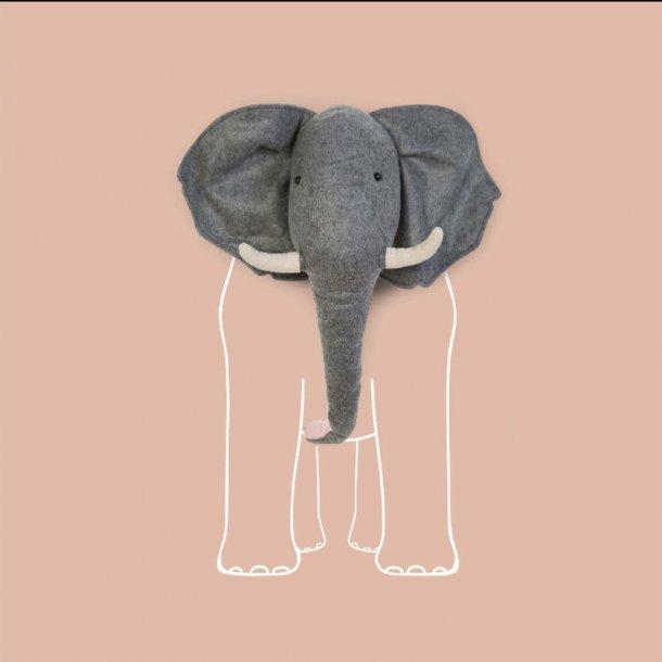 Childhome Elefant Filt Trofæ til væg