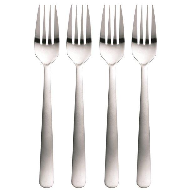 Fiskars Functional Form Middagsgaffel 4-pak, Mat stål