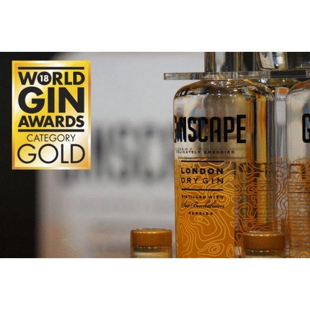 Ginscape Prisvindende Dansk Gin 43,7% 70cl.