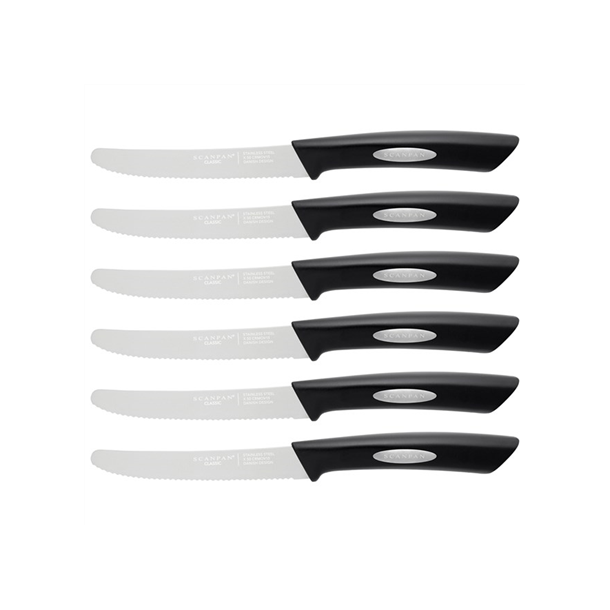 Scanpan Steakknive Classic sort - 6 stk