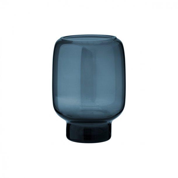 Stelton Hoop Mundblæst Vase Midnightblue H14 cm