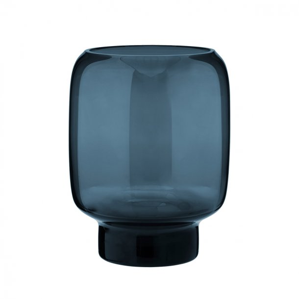 Stelton Hoop Mundblæst Vase Midnightblue H20 cm